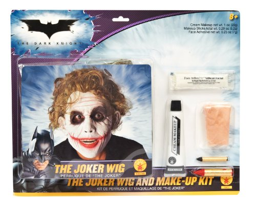 Perücke und Make-up-Kit Joker Batman