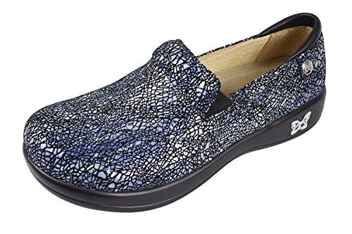Alegria, Zoccoli donna, blu (Crackle And Pop Leather), 35 EU-35,5 EU