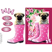Gorgeous Pug in Wellies by Amy Perry