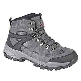 Johnscliffe® ANDES Hiking / Walking Boots. Waterproof, Charcoal Gray. Suede 8