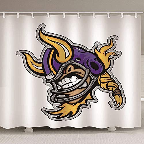 HBZZCL 3D Duschvorhänge Cartoon-Monster Wasserdicht Stoff Fabrik Wohnaccessoires Kunststoffhakens-150(W) X180(H) cm