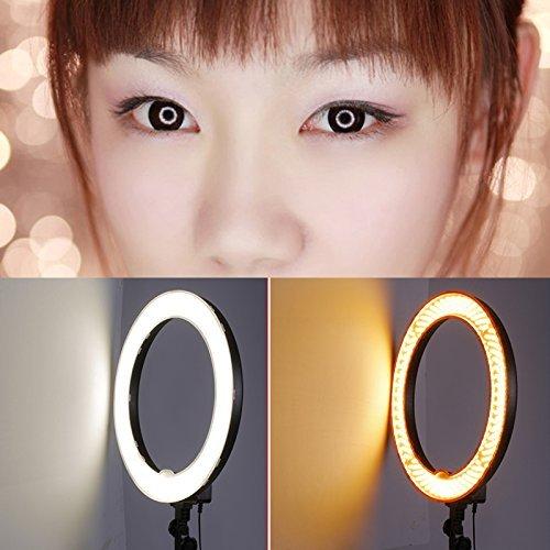 Ringlicht 65W 18-Zoll dimmbare Ringleuchte 448 einzelne LED ideal für YouTube Videoaufnahme