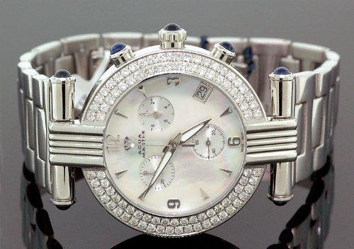 AQUA MASTER 0112MUUBI6H - Reloj para mujeres, correa de metal color blanco