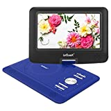 "ieGeek 13.8"" HD Portable DVD Player Extended Battery Life Swivel Screen Resume Play Compatible SD Card and USB SYNC Screen with TV Support AVI/RMVB/MP3/JPEG, Blue"