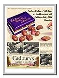 Cadburys Milch Tablett schokolade Werbung 1950er Memo Board, Magnet Silver gerahmt–41x 31cms (ca. 40,6x 30,5cm)