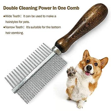 onebarleycorn – Hunde kamm,Katzenkamm Flohkamm Läusekamm Fellpflege Stainless Steel Comb Hundesalon Kamm removes…