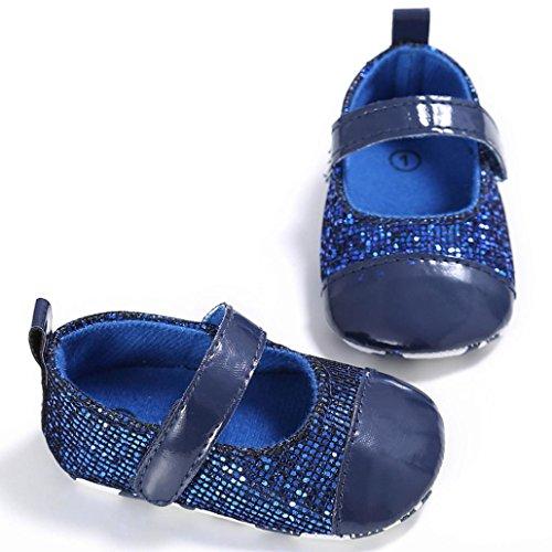 Omiky® Mode 2017 Kleinkind Mädchen Krippe Schuhe Neugeborene Blume Soft Sohle Anti-Rutsch Baby Sneakers Blau