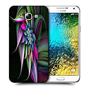 Snoogg Abstract Floral Design Printed Protective Phone Back Case Cover ForSamsung Galaxy E7