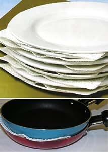 8 X Tellerschutz Porzellan Teller Tellerschoner