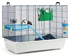 Savic Freddy 2 Ratten- und Frettchenkäfig, 80 x 50 x 63 cm, marineblau