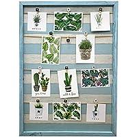 15 modelos de Marco de madera de pared con soporte de imagen de cuerda y pinzas