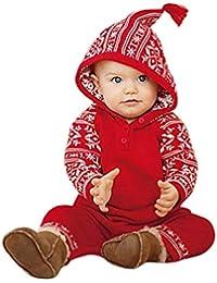 Baby-Overall-Kleidung,BeautyTop Neugeborene Baby Mädchen Junge Weihnachten Kleidung Mit Kapuze Strampler Overall Pyjamas Outfits