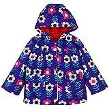 LZH Bambina Impermeabile Ragazza Pioggia Giacca Stampare Cappotto con Cappuccio