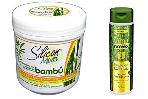 combo-silicon-mix-bambu-16oz-novex-shampoo-broto-de-bambu-10oz-by-novex