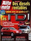 ACTION AUTO MOTO [No 41] du 01/12/1997 - DIESELS RENTABLES. LES TDI : 21 MODELES A...