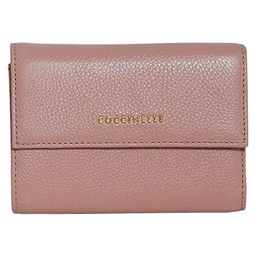 Coccinelle Metallic Soft Flap Wallet Argile