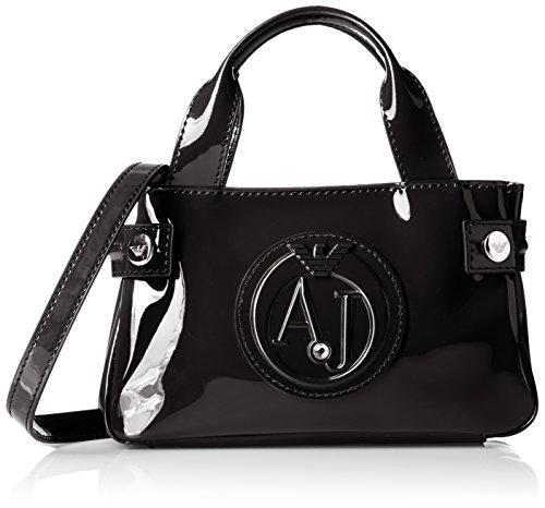 Armani Jeans - Borsa Shopping, Bolsos maletín Mujer, Schwarz (Nero), 12x5x20 cm (B x H T)