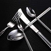 Cuchillos mixtos de lujo de 5 piezas Sets Cuchillo Cuchara Cuchara Tenedor para ensalada barroca Original