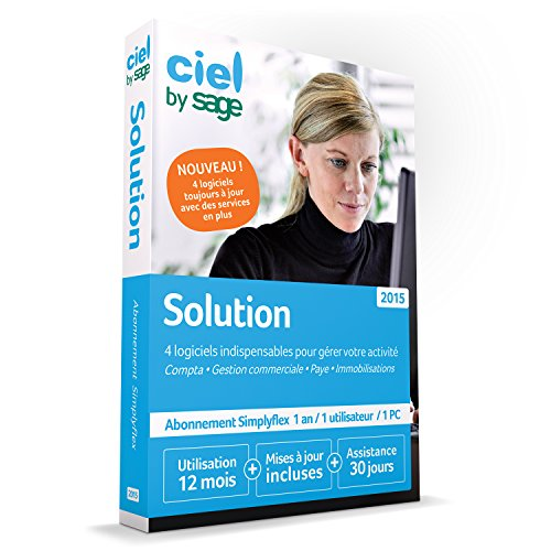 Ciel Solution Simplyflex 2015 - 1 an d'abonnement