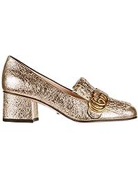 Gucci zapatos de salón escotes mujer en piel nuevo galassia gg detail oro