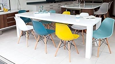 White High Gloss Fern White Gloss Extending Dining Table - cheap UK dining table shop.