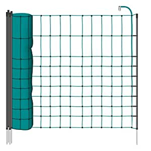 Filet de cl ture lectrique 12 m h 65 cm vert 9 piquets simple pointe lapin chat - Cloture electrique chat ...
