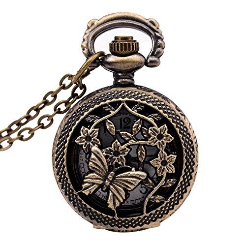 TOOGOO Reloj Vintage de Bronce 31.5 Pulgada Reloj antiguo de cadena de Bolsillo de Moda Como regalo...