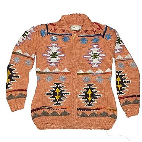 South American 100% lana, realizzata a mano, motivo Inca Felpa Jumper