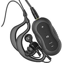 Aerb® 4 GB Lettore MP3 impermeabile Music Stream Player per Nuoto Surf Sport acquatici Correre & altri sport (nero,IPX-8 standard)