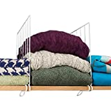 Evelots® Set Of 8 Closet Shelf Dividers For Wooden Shelving, Wire Design, White