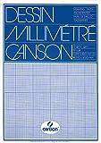 Canson Dessin Millimétré Papier à dessin A3 29,7 x 42 cm Bleu