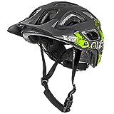 O'Neal Thunderball Attack All Mountain Bike Helm MTB Enduro Trail Fahrrad Fidlock M-XL 54-60cm, 0007-5, Farbe Schwarz Gelb, Größe M/XL