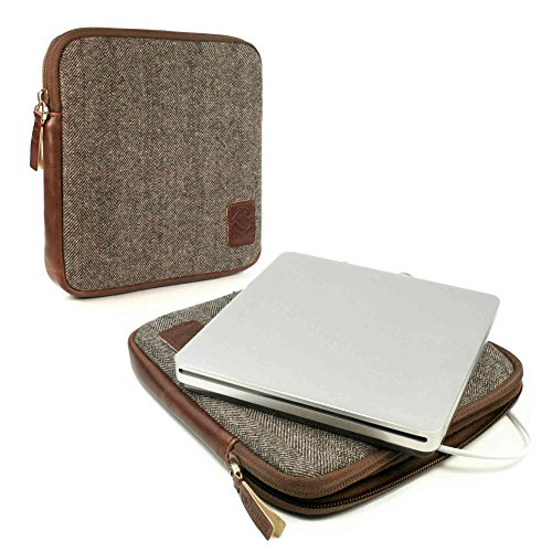 tuff-luv-herringbone-tweed-travel-case-fur-apple-usb-superdrive-braun