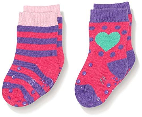 Sterntaler Baby - Mädchen Socken ABS - Krabbelsöckchen DP Herz, Gr. 16 (Herstellergröße: 15/16), Violett (lilaviolett 686)