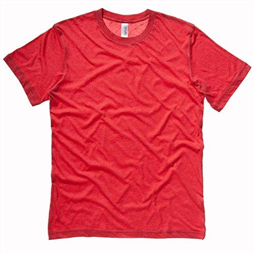 Bella CanvasHerren T-Shirt - Light Red Triblend