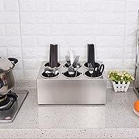 SSBY Cofanetto portaposate in acciaio inox coltello e forchetta bacchette stoccaggio scatole utensili da cucina filtro acqua reimpostare la tabella bacchette,6 a
