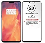 #4: V CAN Full Screen 5D 9H Hardness Anti-Fingerprint 0.33mm HD+ View Crystal Clear Tempered Glass for OnePlus 6 (Black)