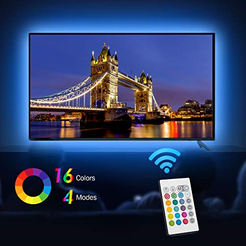 USB TV LED Backlight Length 7.87ft /2.5M Suitable for 40-65 feet hd TV, 24 Keys Infrared Remote Control can Remote…