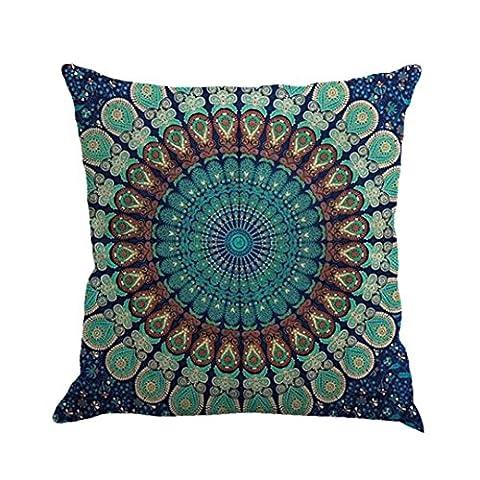 Indexp Geometry Indian Bohemian Pillowcase Mandala Floor Pillows Cushions Cover(17.7x17.7