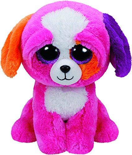"""Beanie Boo Dog - Precious - Pink - 15cm 6"""""""