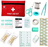 Mini First Aid Kit, 60 Pieces Mini Small First Aid Kit includes Emergency Foil Blanket, CPR Face Mask for Home,Vehicle,Travel,Office,Workplace,Child Care, Hiking,Survival & Outdoor
