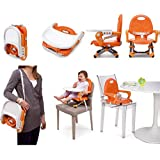Everyday Shop Present All New Booster Seat High Chair Foldable Detachable Tray Safety Belt Highchair Child Kids Dinner Feeding Chair Collapsible Portable