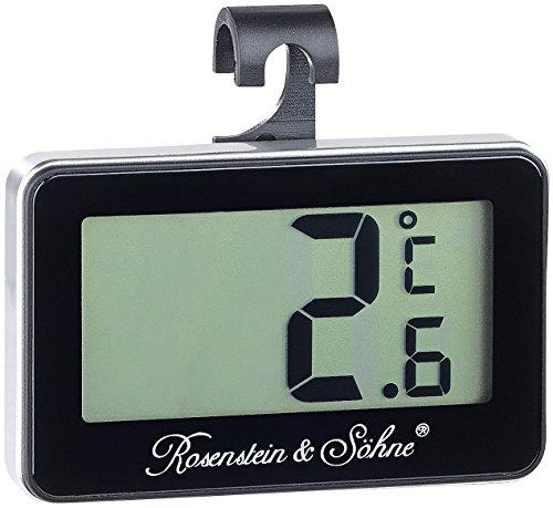 Rosenstein & Söhne Gefrierthermometer: Digitales Gefrier- & Kühlschrankthermometer (Gefrierschrank-Thermometer)