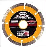 Kreher Diamant Trennscheibe, segmentiert. Durchmesser 178 mm, Bohrung 22 mm, Segmenthöhe 7 mm. Für Granit, Beton, Waschbeton, Steinzeug.