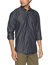 Allen Solly Mens Casual Shirt (8907587589350_AMSF517G02594_42_ Black With White)
