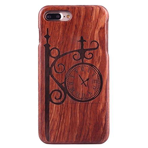 iPhone Case Cover Pour iPhone 7 Plus Séparable Sculpture Artistique Tiger Head Pattern Rosewood Boîtier Étui de Protection ( SKU : Ip7p1450r ) Ip7p1450b