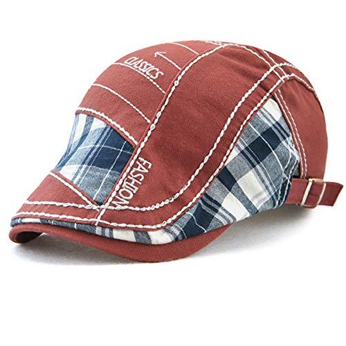 Tioamy Schirmmütze Kappe Unisex Mütze Stickerei Damen Herren Mütze Flatcap Sportmütze Newsboy Cap Beret Cap Cabbie Cap (Männer X Weibliche Charaktere)