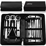 KEZAY Manicure Pedicure Set 18 in 1,Stainless Steel Grooming Kit Include Nail Clippers