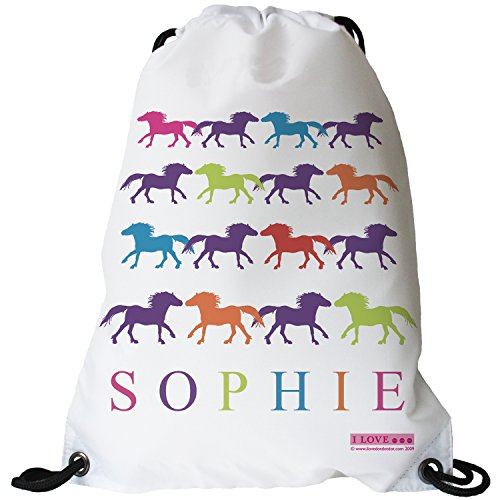 Used, I LOVE... PONIES Personalised Swimming Bag, Horse Riding for sale  Delivered anywhere in UK