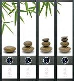 Ordnerrücken breit 4er Set Ordner Feng Shui Steine Wasser Aufkleber Etiketten Deko 445
